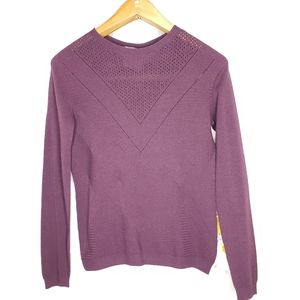 Tricot Chic Maroon Knit Pullover Sweater